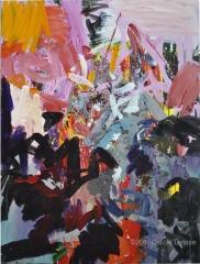carole delaye, peinture abstraite, appel à l'ordre, avril 2015
