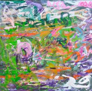 carole delaye, peinture abstraite, champ magnétique, mai 2014