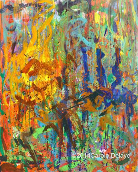 carole delaye, peinture abstraite, crépitement, avril 2014