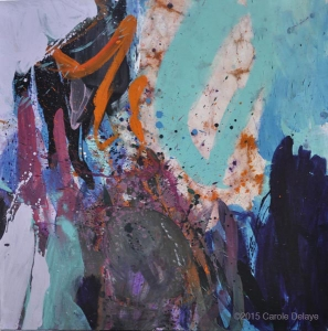 carole delaye, peinture abstraite, fond sonore, mai 2015