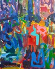 carole delaye, peinture abstraite, graffiti, février 2012