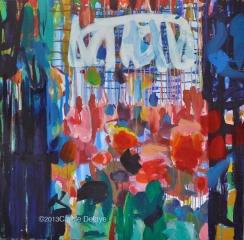 carole delaye, peinture abstraite, graffiti floral, mai 2014