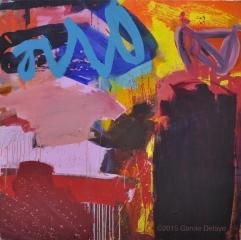 carole delaye, peinture abstraite, invitation, mai 2015