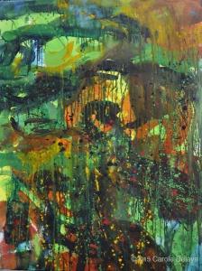 carole delaye, peinture abstraite, l'oiseau siffleur, avril 2015