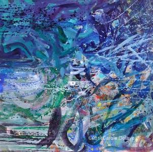 carole delaye, peinture abstraite, vingt mille lieux, août 2014