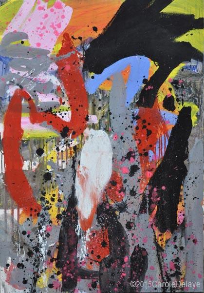 carole delaye, peinture abstraite, Ba ha ha, octobre 2015