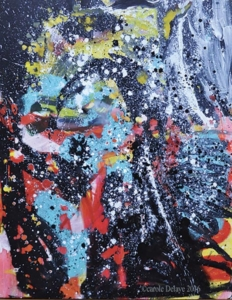 carole delaye, peinture abstraite, électron libre, 2016