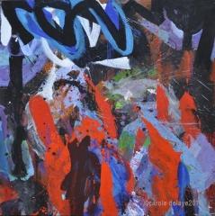carole delaye, peinture abstraite, l'état guidant le peuple, novembre 2015