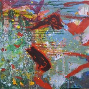 delaye, peinture abstraite, la chute, décembre 2015