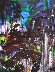 carole delaye, peinture abstraite, metamorphosis in the garden, 2016
