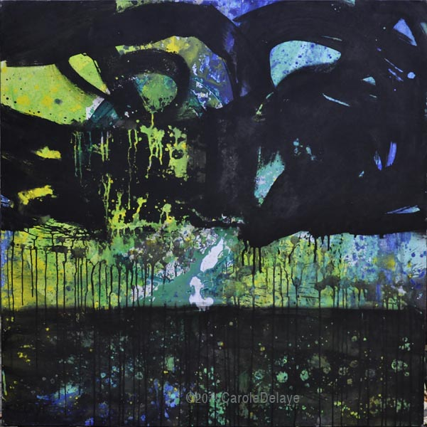 carole delaye, peinture abstraite, paradis new, novembre 2015
