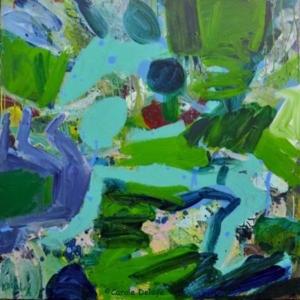 carole delaye, peinture abstraite, promenade solitaire, 2016
