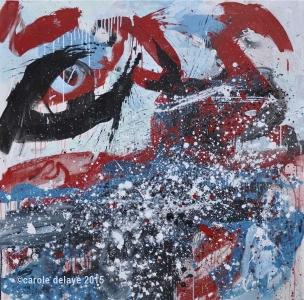 carole delaye, peinture abstraite, prophétie, décembre 2015