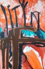 carole delaye, peinture abstraite, stop deforestation, 2016