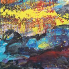 carole delaye, peinture abstraite, the world according to man, 2016