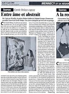 Presse régionale, Mennecy 2003