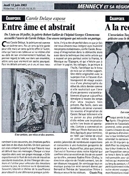 Presse régionale, Mennecy 2003