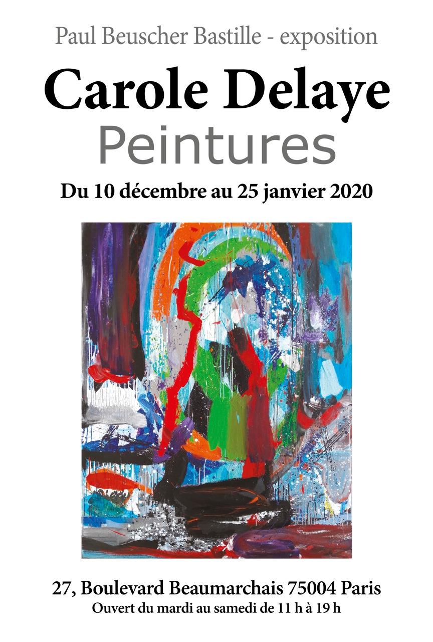 exposition de peintures, Paul Beuscher Bastille, Paris 2020