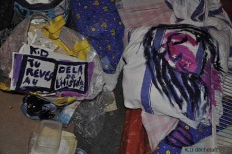 carole delaye, photographie déchets peints