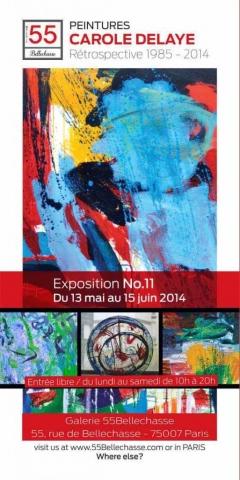 exposition de peintures, Galerie 55Bellechasse, Paris 2014