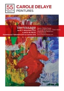 Exhibition Carole Delaye, 55Bellechasse Art Gallery, Paris 2015-16