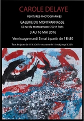 Exhibition Carole Delaye, Du Montparnasse Art Gallery, Paris 2016