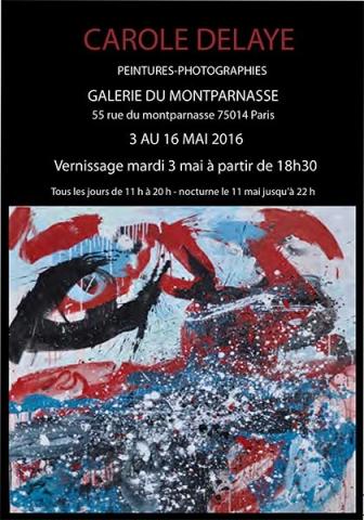 exposition de peintures et photographies, Galerie du Montparnasse, Paris 2016
