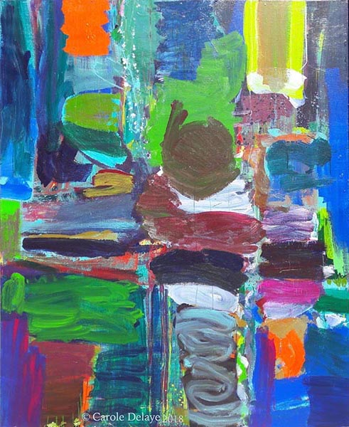 carole delaye, peinture abstraite, attente, 2018
