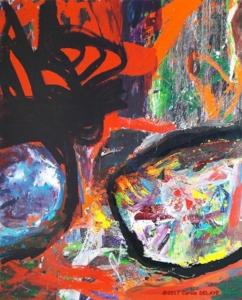 carole delaye, peinture abstraite, attractive vibration, 2017