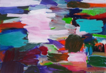 carole delaye, peinture abstraite, aujourd'hui, 2018