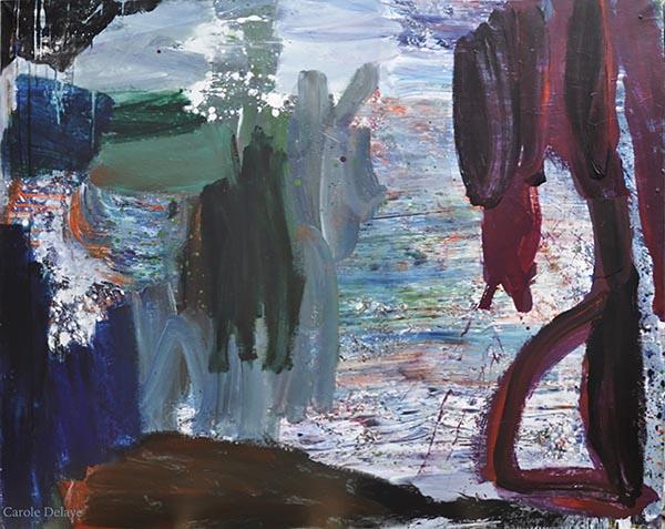 carole delaye, peinture abstraite, départ, 2017