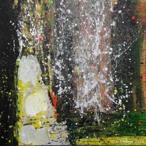 carole delaye, peinture abstraite, fatoumata, 2018