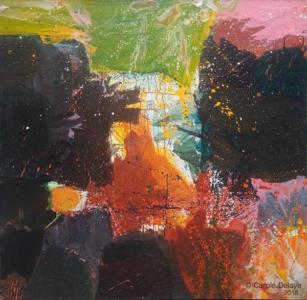 carole delaye, peinture abstraite, jazza, 2018
