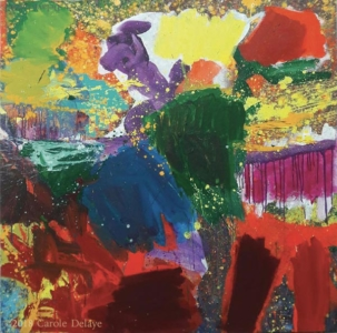 carole delaye, peinture abstraite, que les dieux soient avec nous, 2017