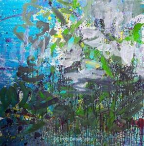 carole delaye, peinture abstraite, quiétude, 2017