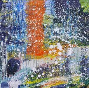 carole delaye, peinture abstraite, temporalité, 2018