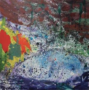 carole delaye, peinture abstraite, universo, 2018