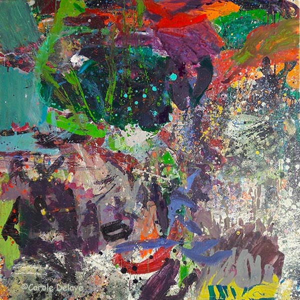 carole delaye, peinture abstraite, vision fertile, 2017