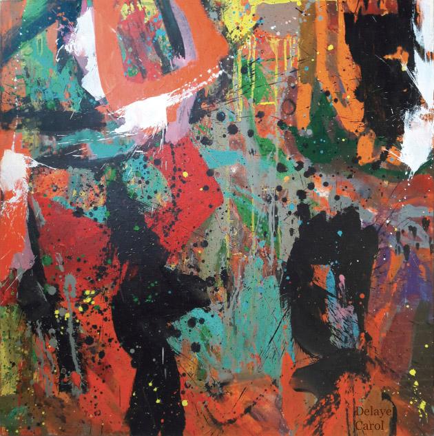 carole delaye, peinture abstraite, au temps des gitans, 2017