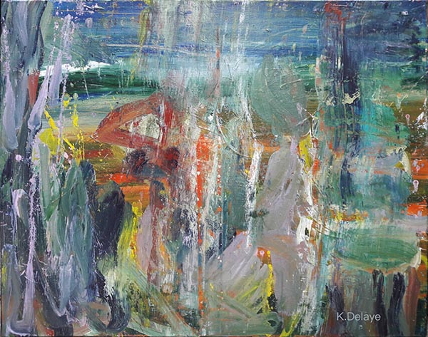 carole delaye, abstract painting, impression, 2019