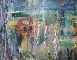 carole delaye, peinture abstraite, impression, 2019
