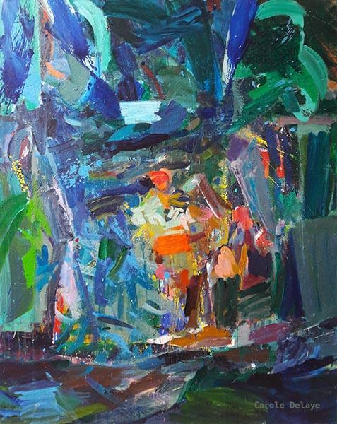 carole delaye, peinture abstraite, poeme symphonique, 2019