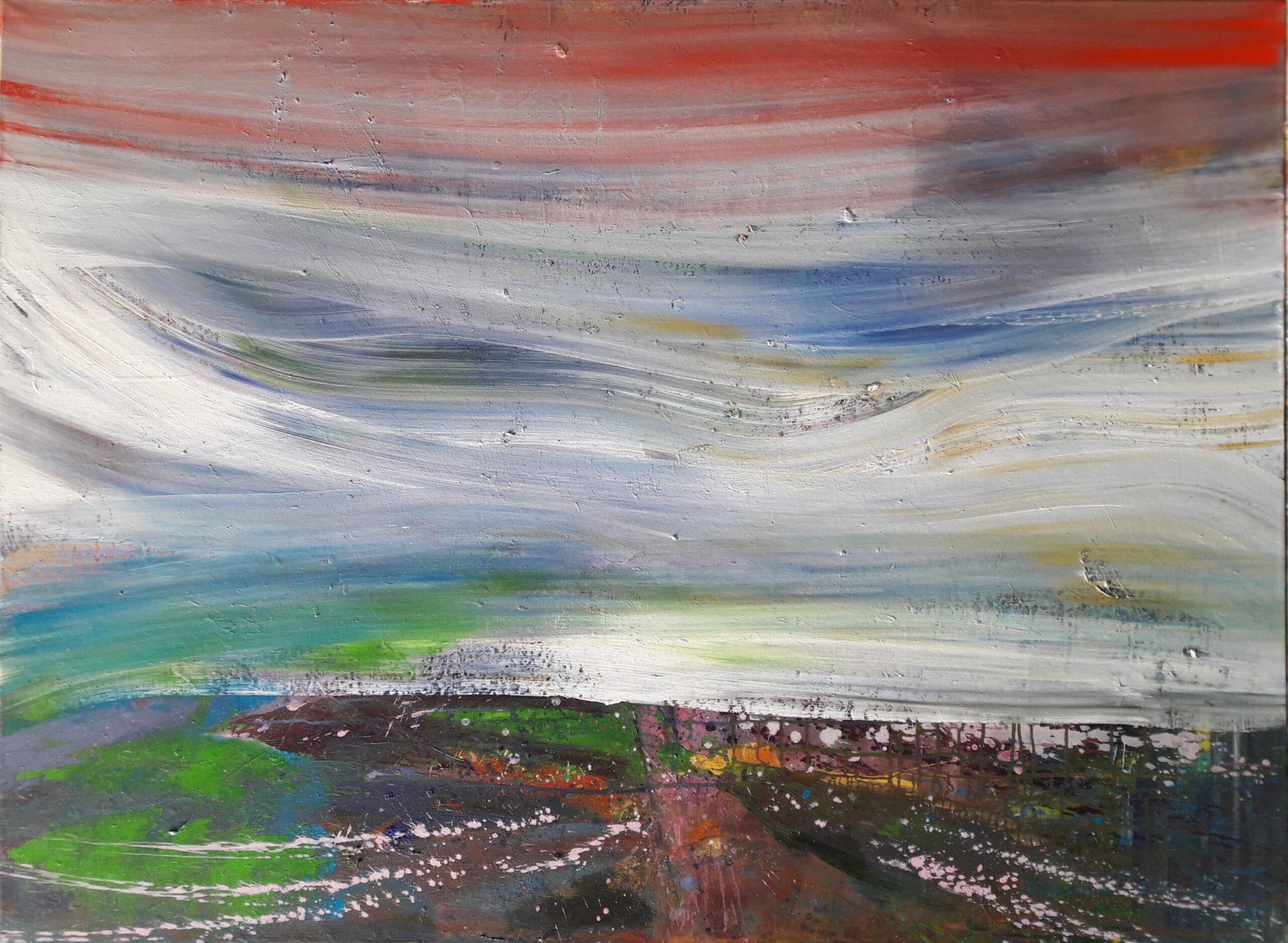 carole delaye, peinture abstraite, sans titre, 2019