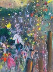 carole delaye, peinture abstraite,scenette, 2019