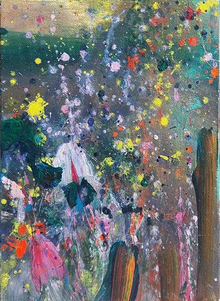 carole delaye, peinture abstraite, scenette, 2019